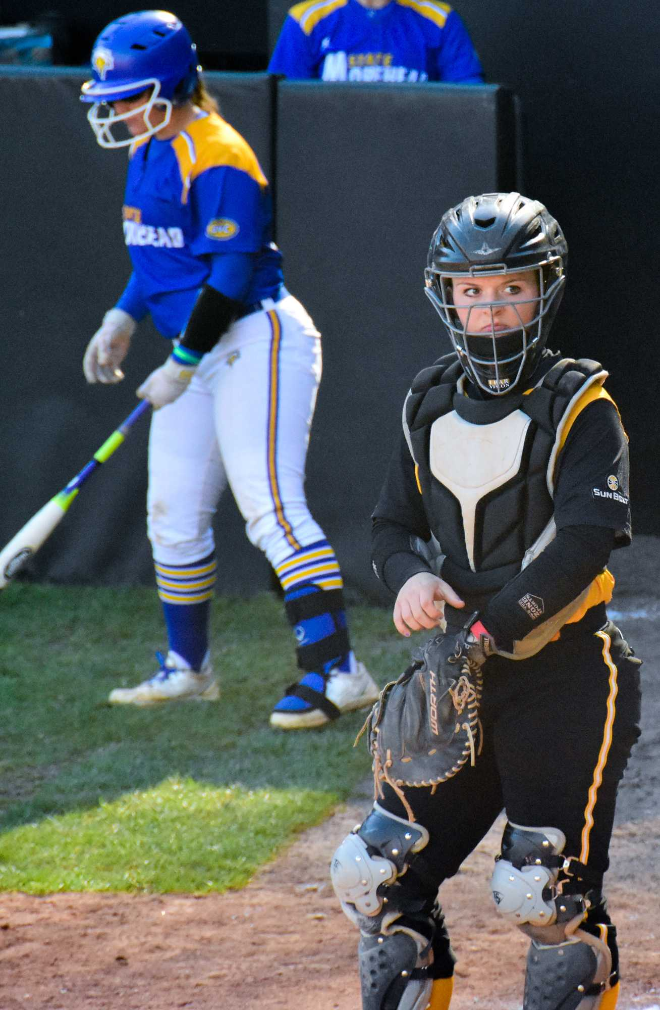 Freshman+catcher+Jenny+Dodd+during+a+game+against+Troy+on+Friday%2C+March+18.