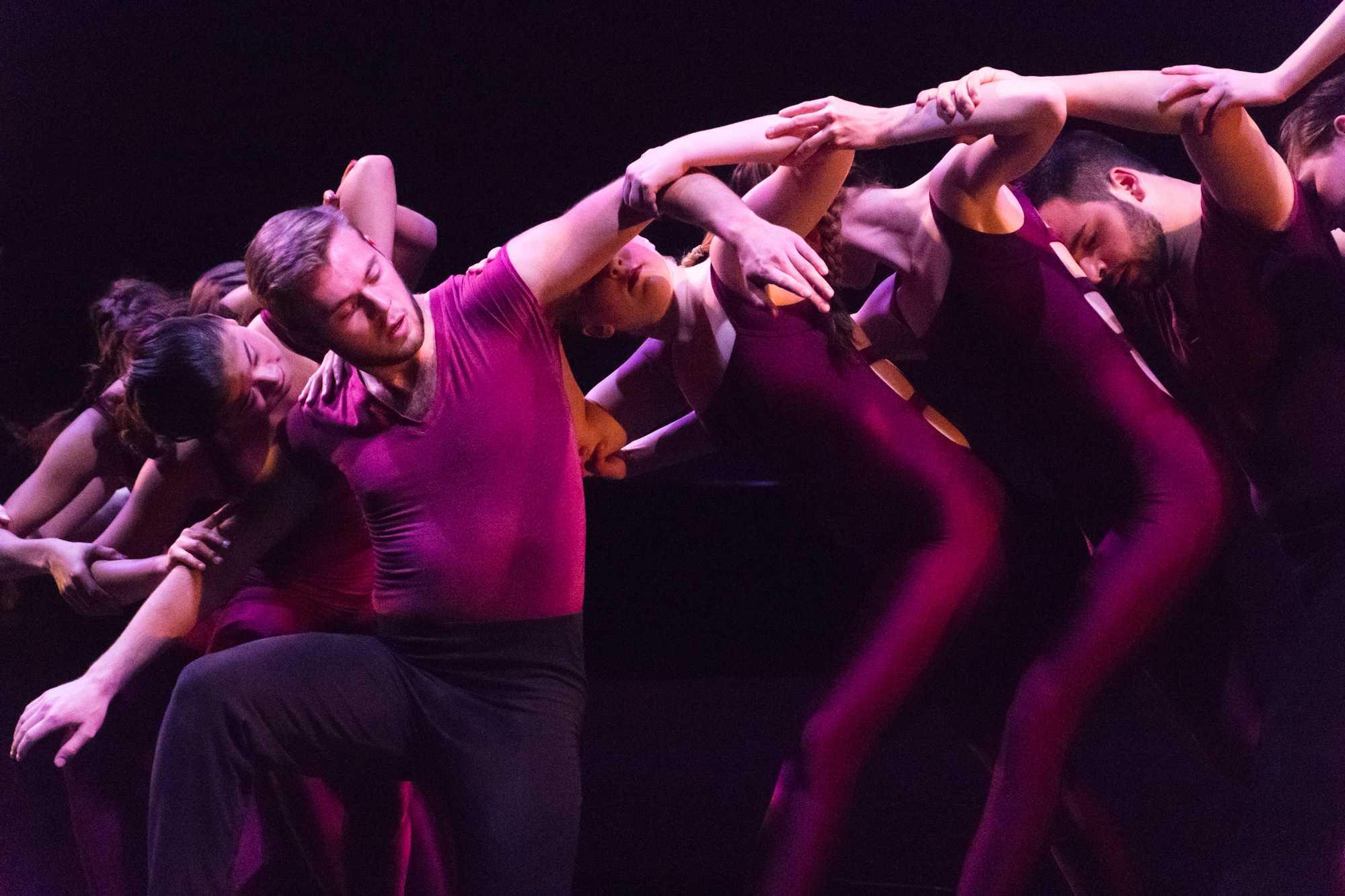 Dancer Lynton Martin performs senior lecturer and choreographer Regina Gulick's piece titled