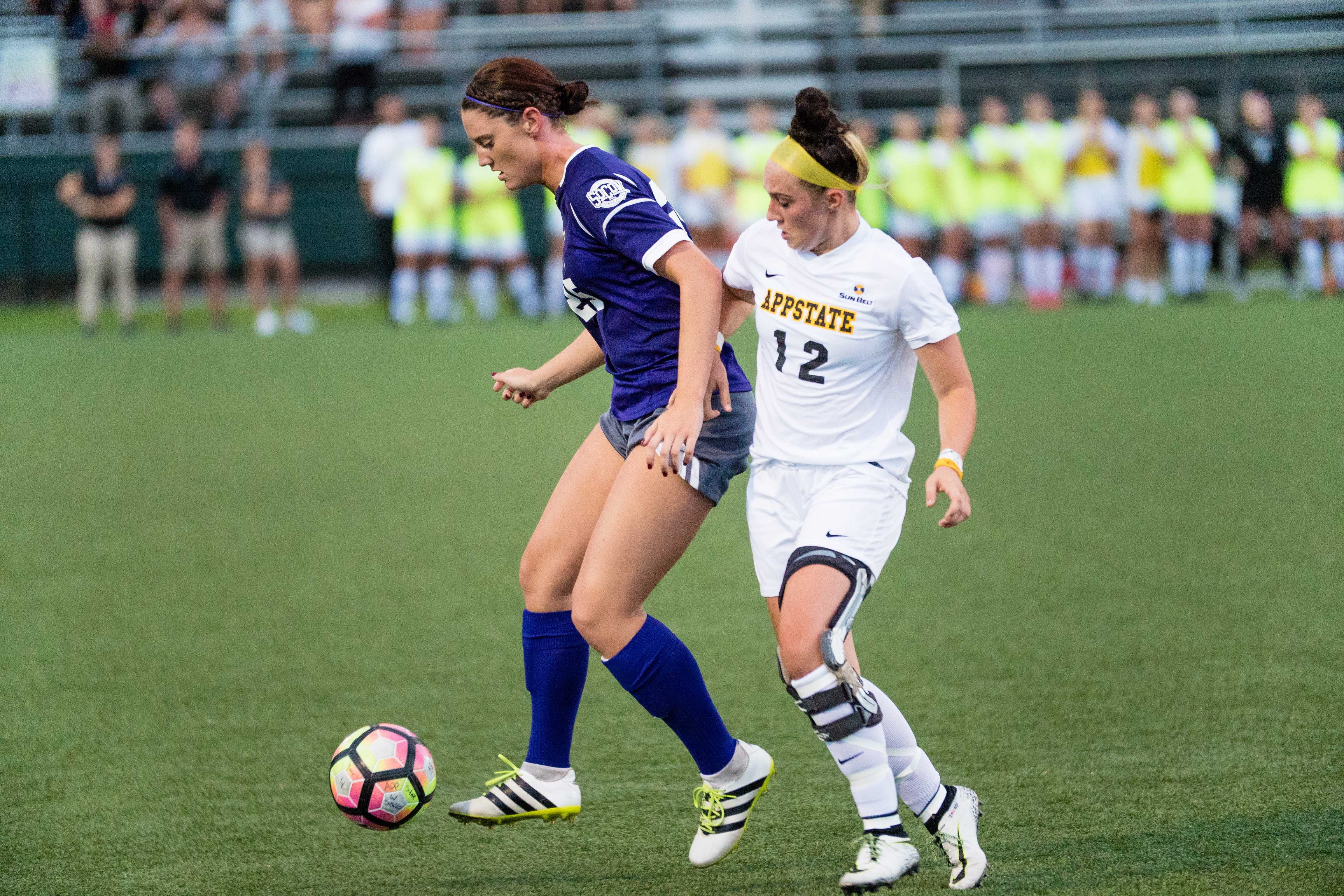Women's soccer falls short in first exhibition