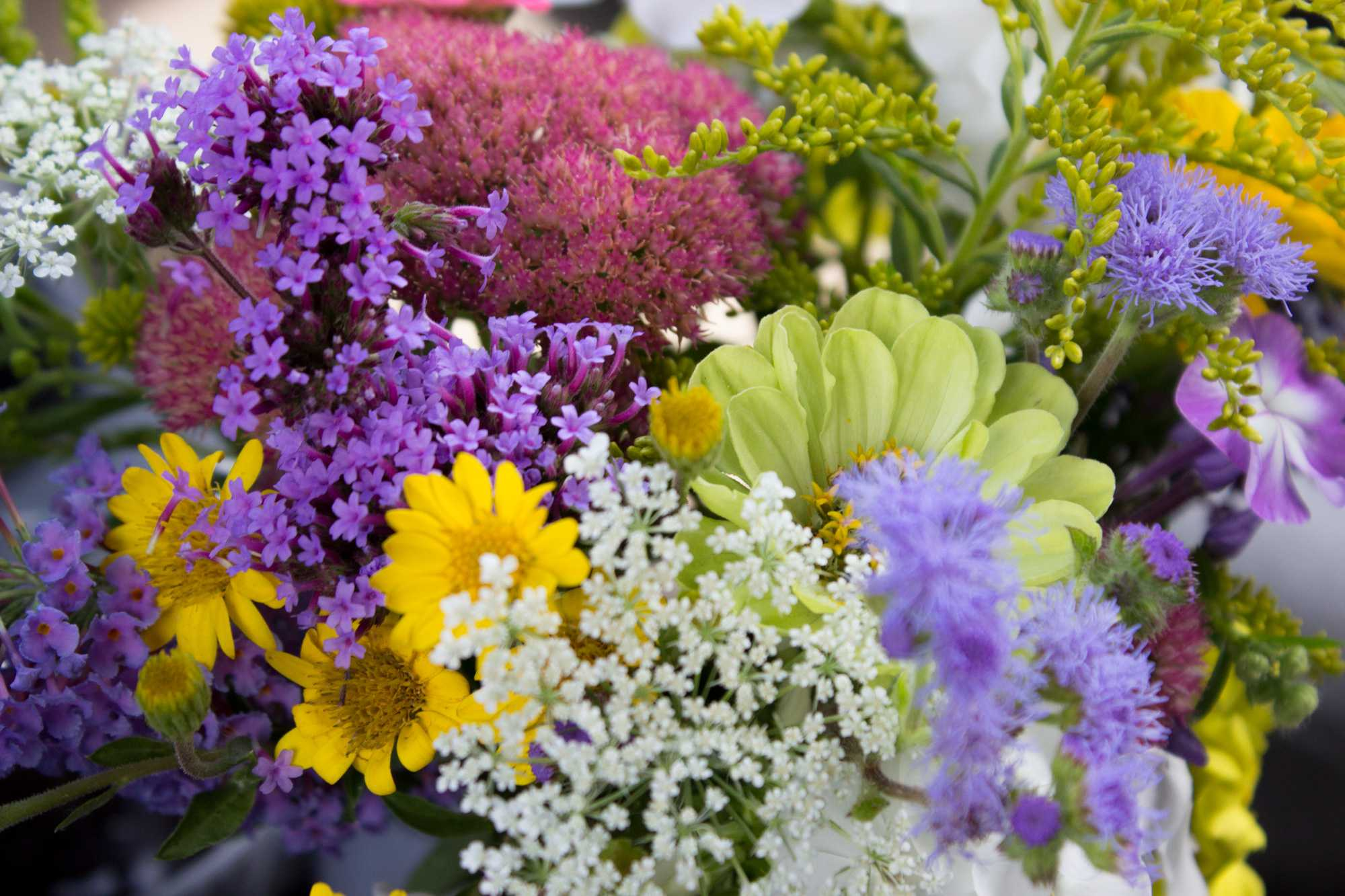 A bouquet of flowers from New Life Farm in Lenoir, NC