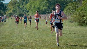 Andrew Vandenberg running in a meet this season. Courtesy: App State Athletics
