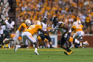 Senior wide receiver Jaquil Capel defending against Tennessee.