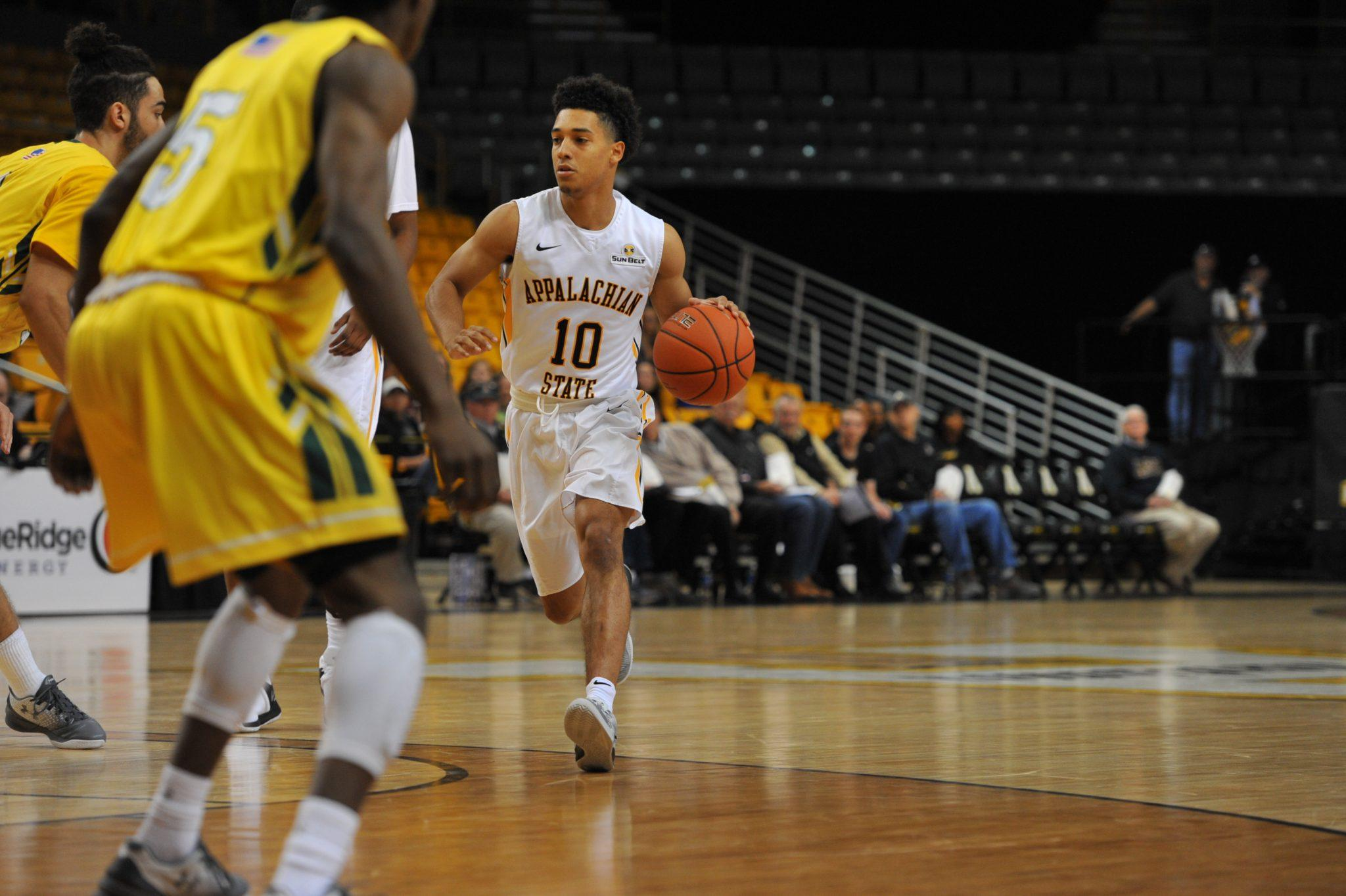 Freshman Patrick Good finished the night with 16 points. Photo courtesy: App State Athletics/ Dave Mayo