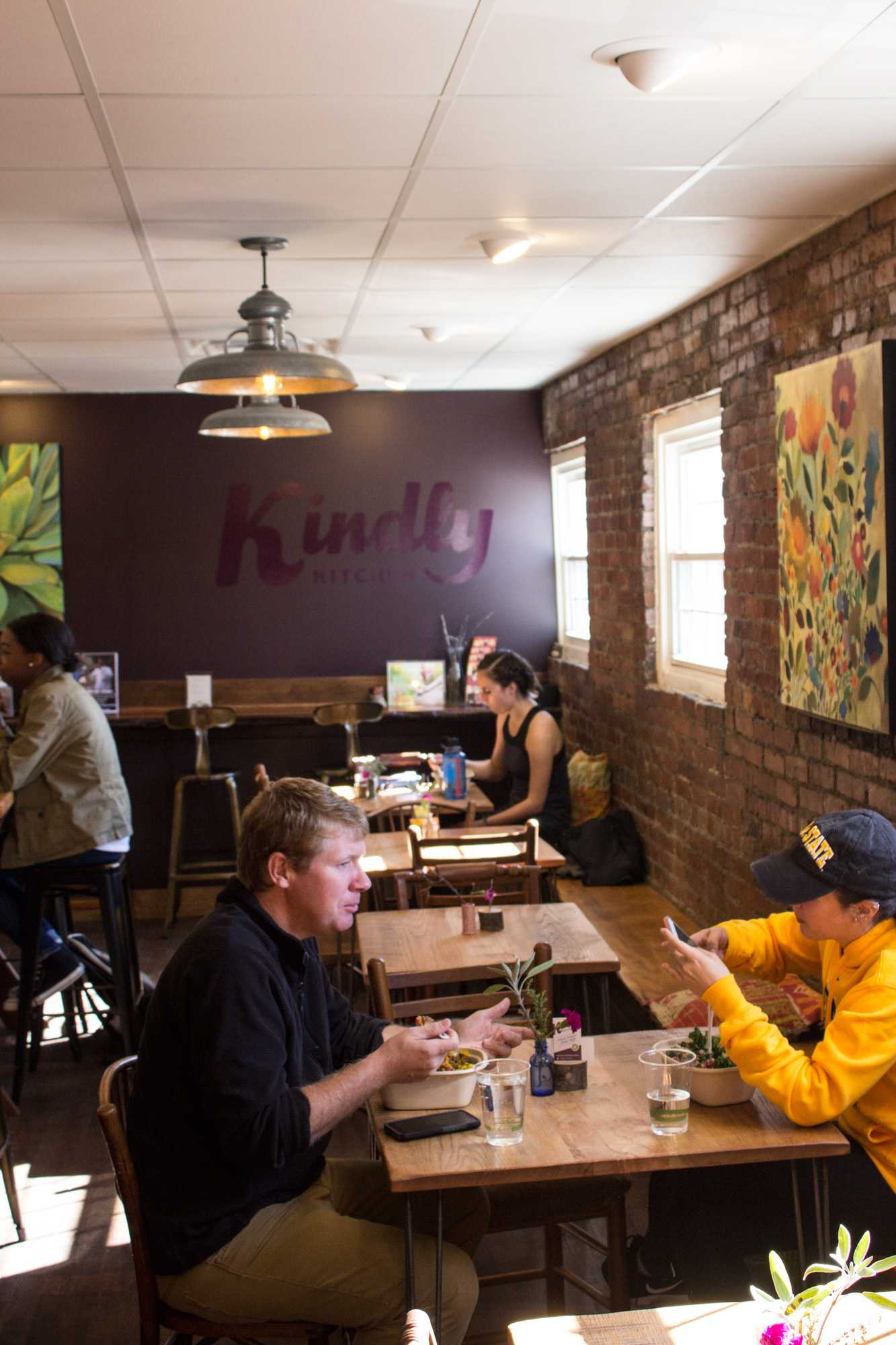 Kindly Kitchen's is 100% vegan and 100% gluten free bowls. The unique restaurant is located on King Street on the conner of Depot Street and they sell a variety of bowls, salads, and smoothies.