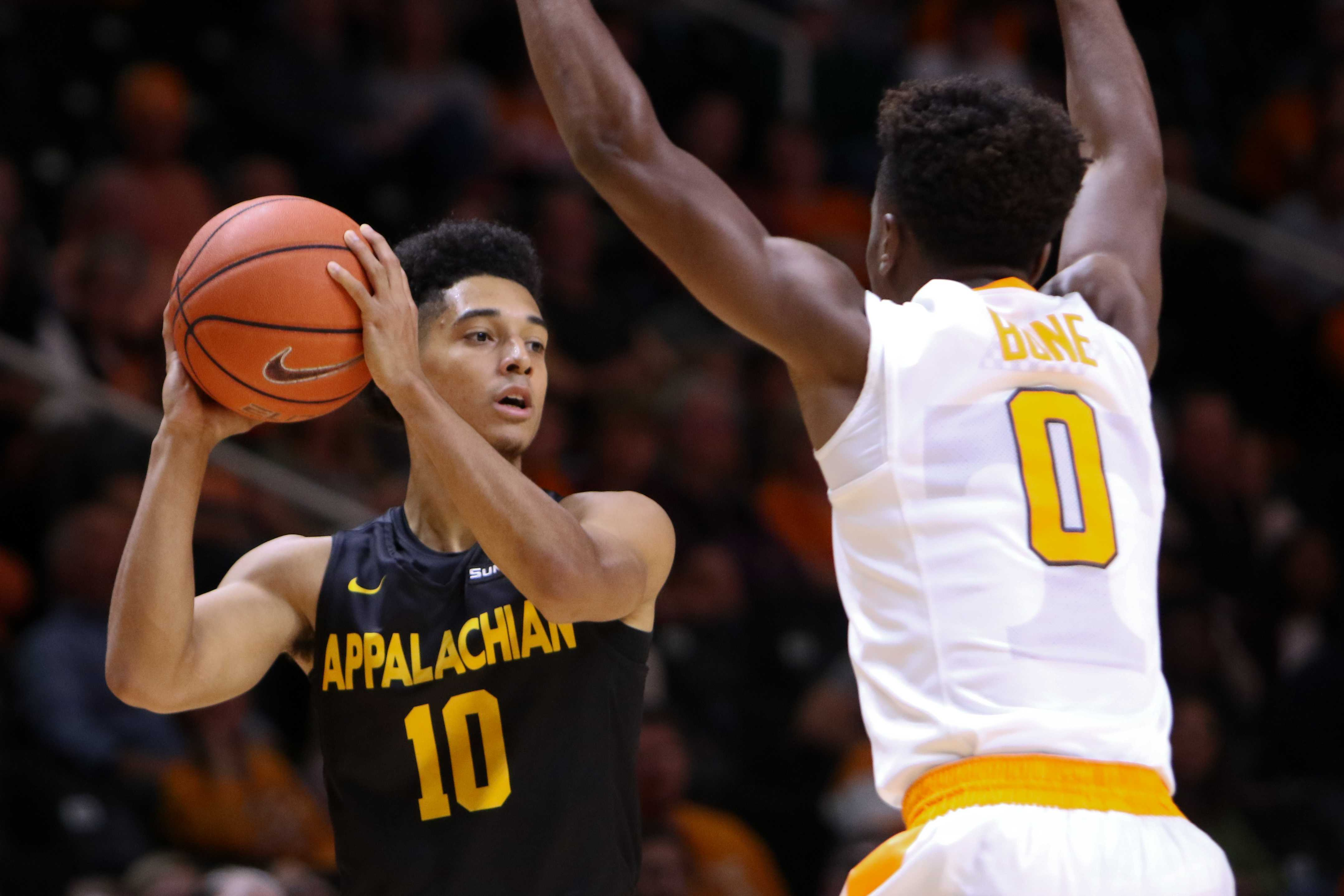 Freshman Patrick Good tied for a game high 21-points in the Mountaineers loss to Tennessee Photo courtesy: Randy Sartin/App State Athletics
