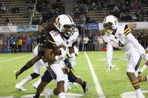 Darrynton Evans returned a 94-yard kickoff for a touchdown Photo credit: Braxton Critcher