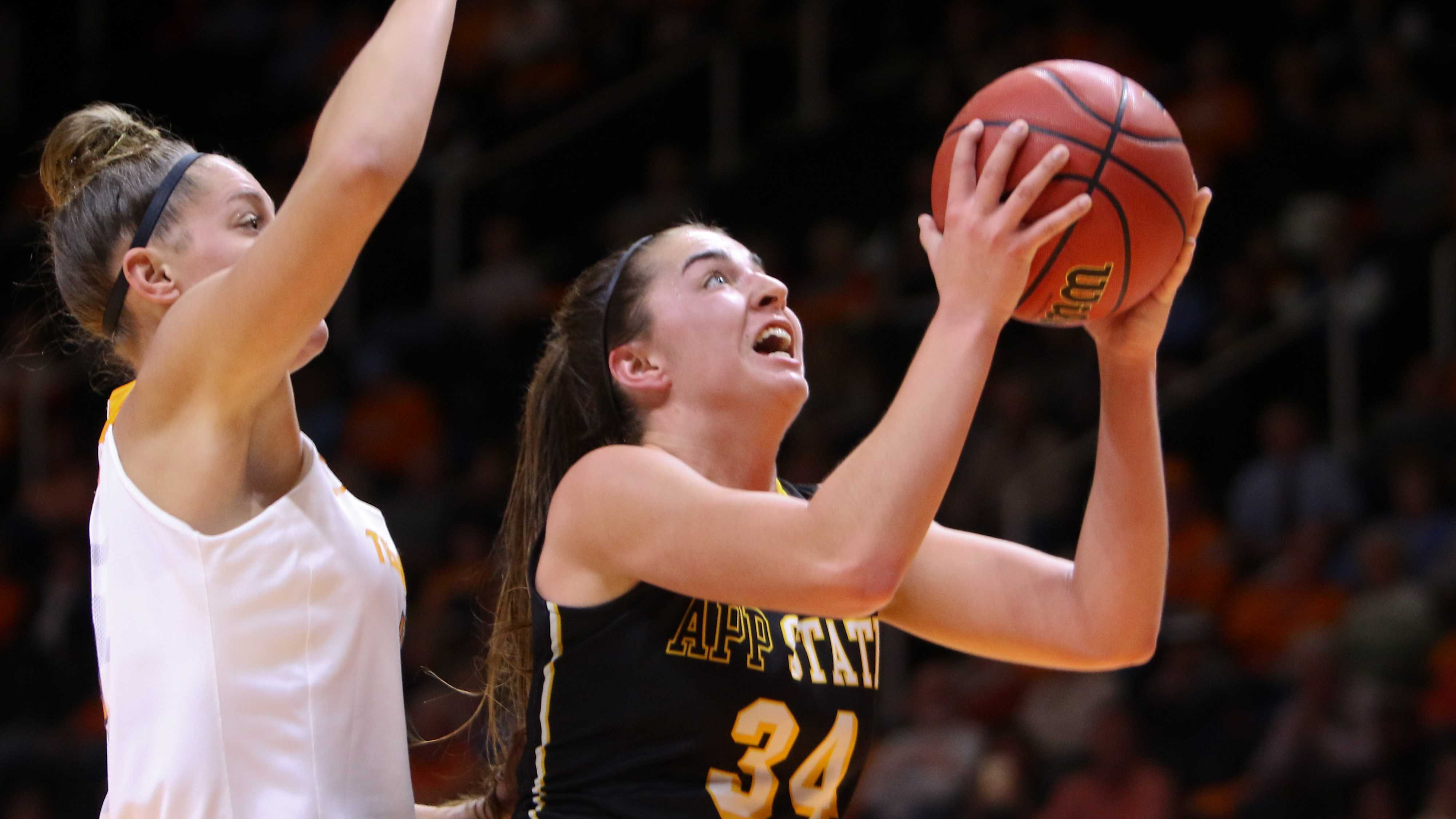 Mountaineers shine early, but Lady Vols are too much