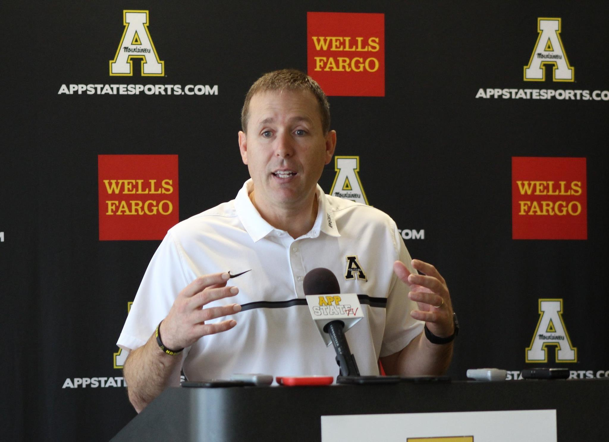 Head coach Scott Satterfield during the signing day press conference on February 1  Photo by: Braxton Critcher, Photographer