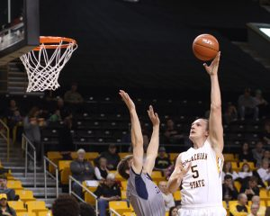 Forward Griffin Kinney scored a career high 25 points in App State's victory over Georgia Southern. Photo courtesy: Bill Sheffield/App State Athletics