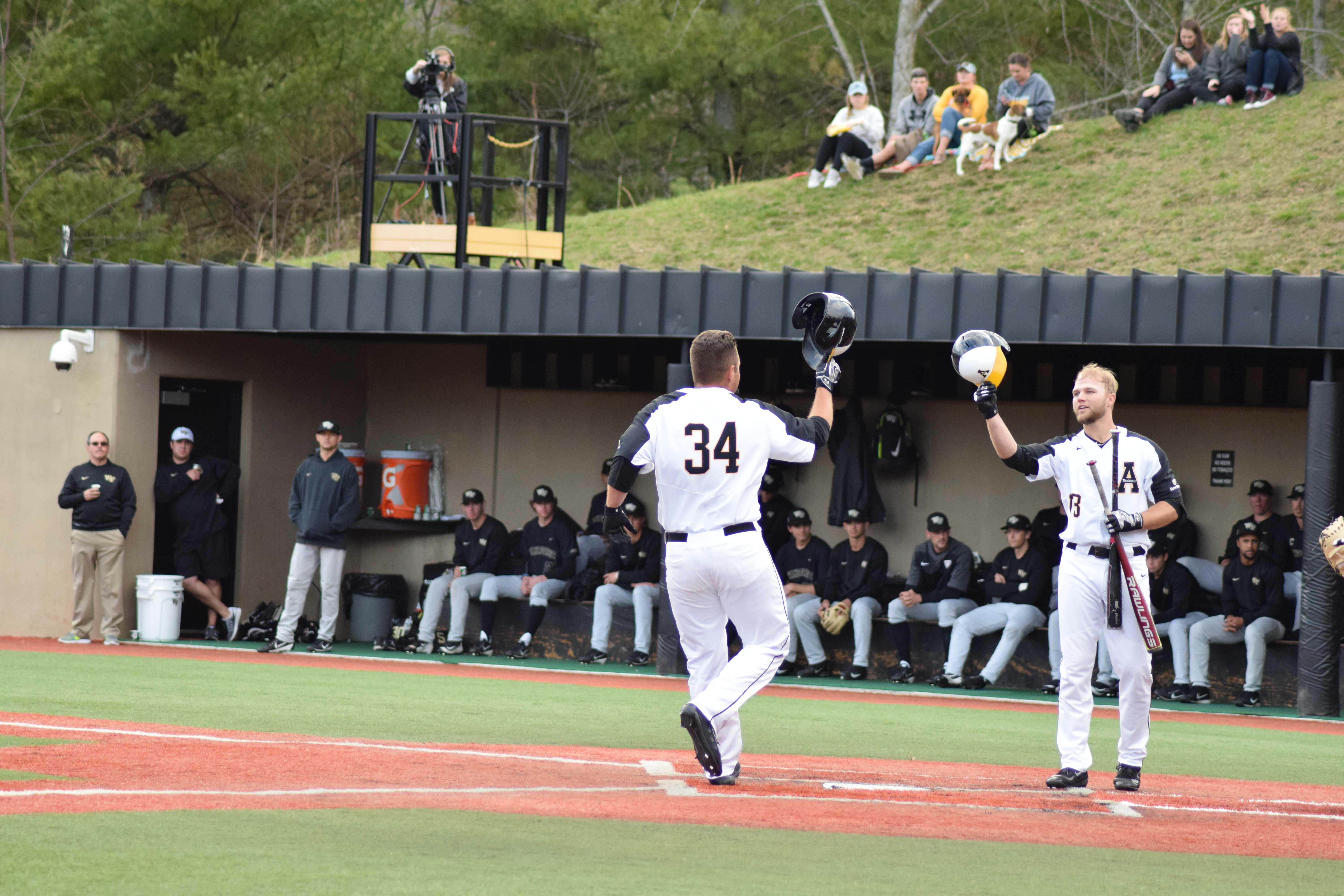 Conner Leonard hit a home run in the bottom of the fifth inning to put App State up over Wake Forest.