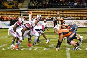 Grizzlies defense played a stellar game against Dayton Wolfpack as they only held the Wolfpack to six points.