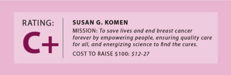 The problems with Susan G. Komen
