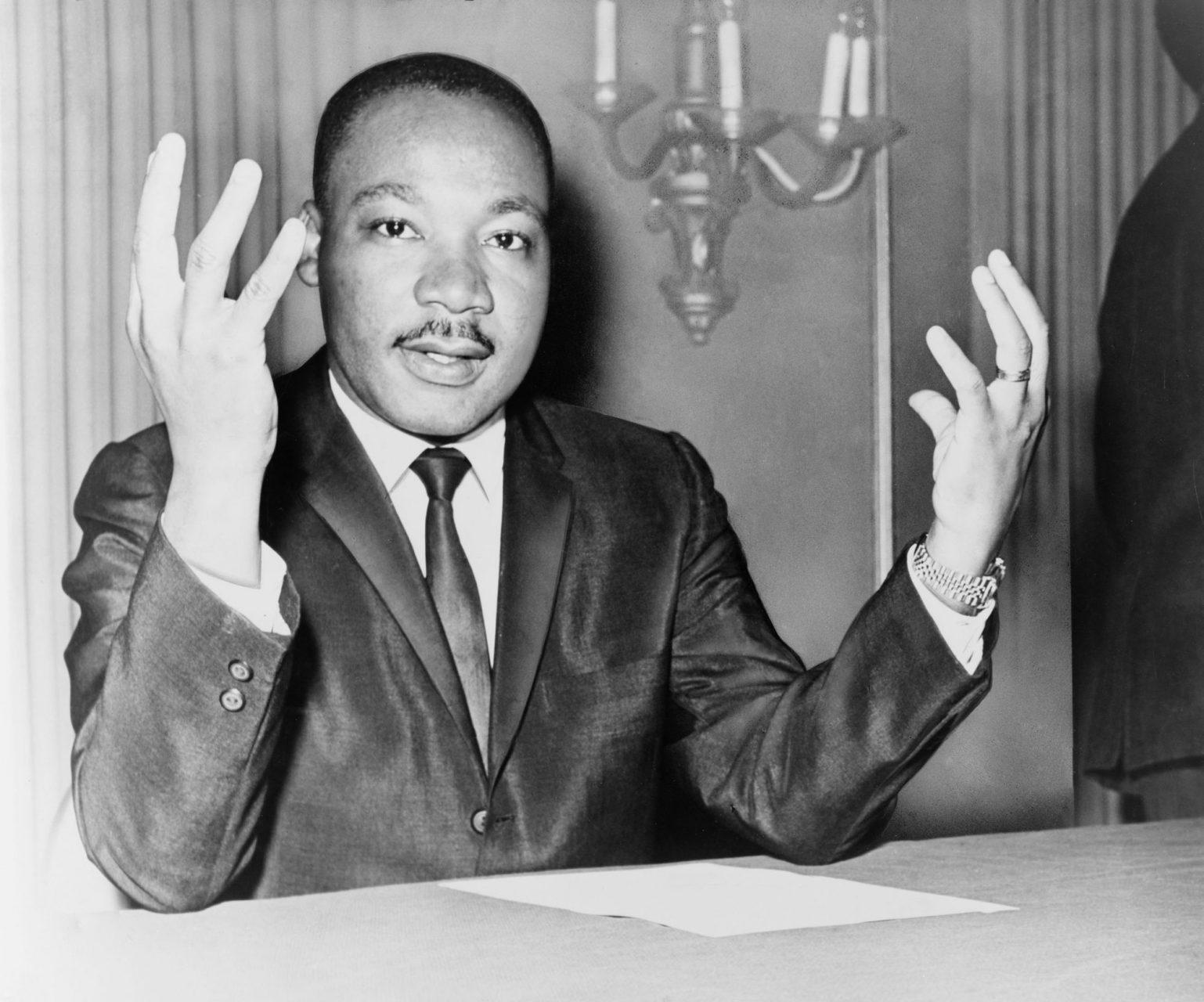 Rev. Martin Luther King during a press conference/World Telegram in 1964.