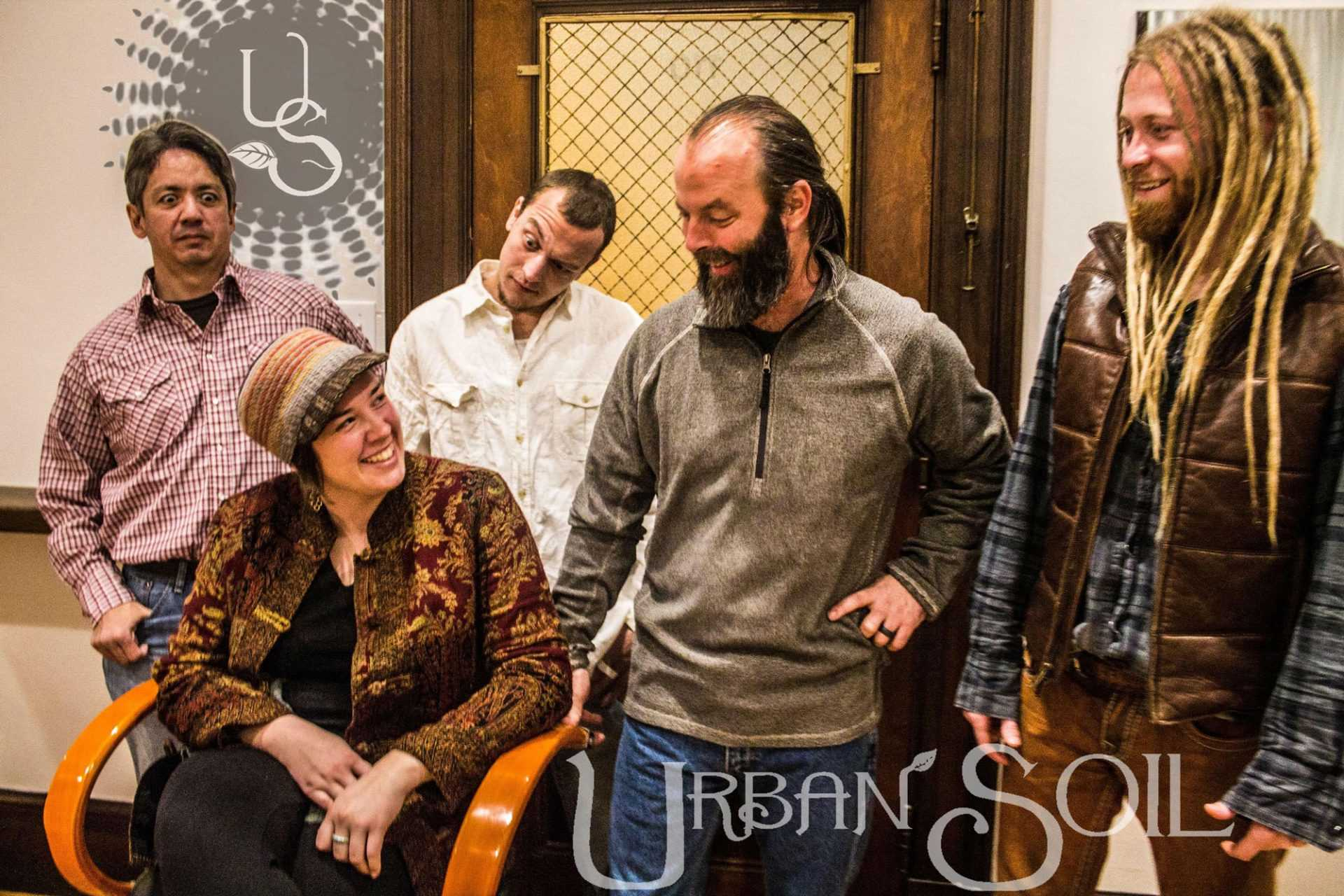 Sarah Reinke, Gregory Meckley, Eric Chesson, Jonathan Wilson, and Leo Kishore make up the band Urban Soil. The band is from Raleigh, NC and they produce Americana, rock, and soul sounding music.