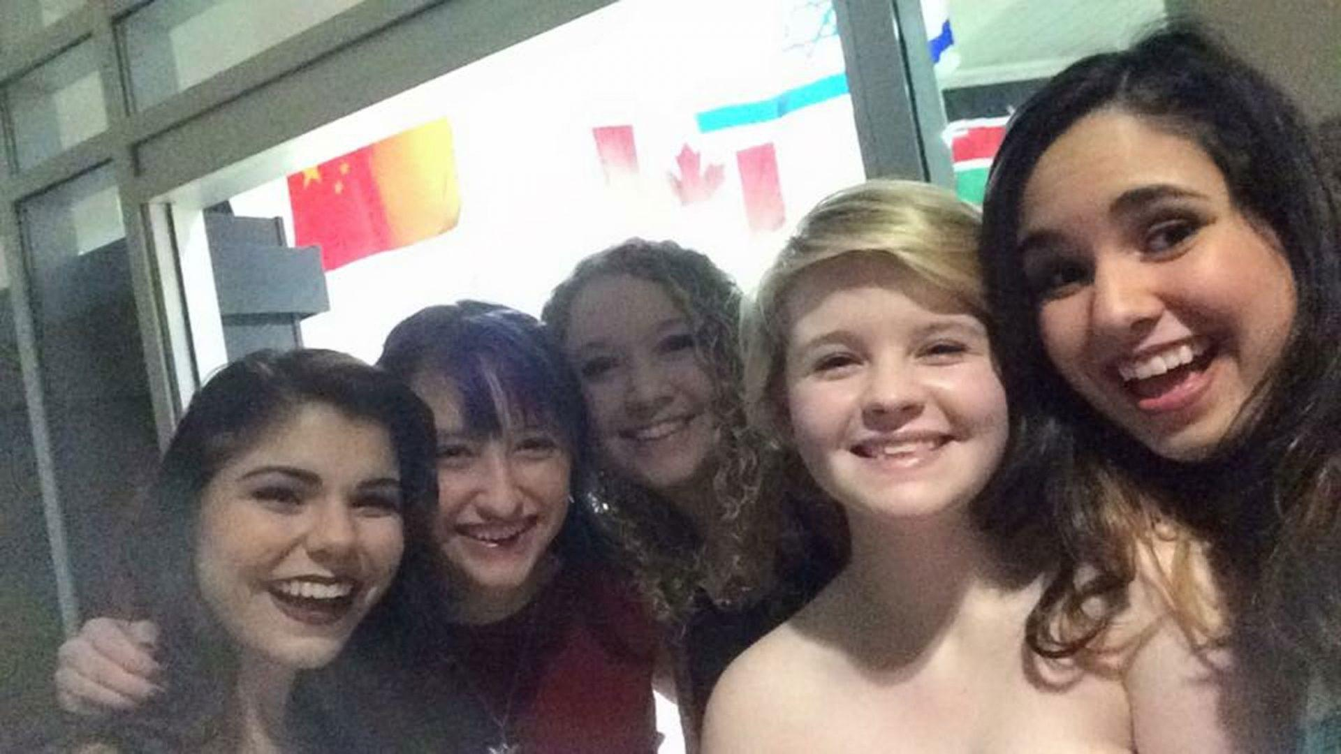 Marina Delgreco takes a selfie alongside a bunch of Second Chance Prom attendees in 2017. This year the dance with be on Friday, February 16th and hosted by the LGBT center.