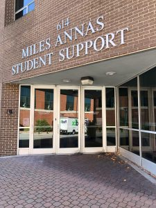 The ouside of Miles Annas Student Support which is alternatively known as the Wellness Center. The building has both the counseling center and health services.