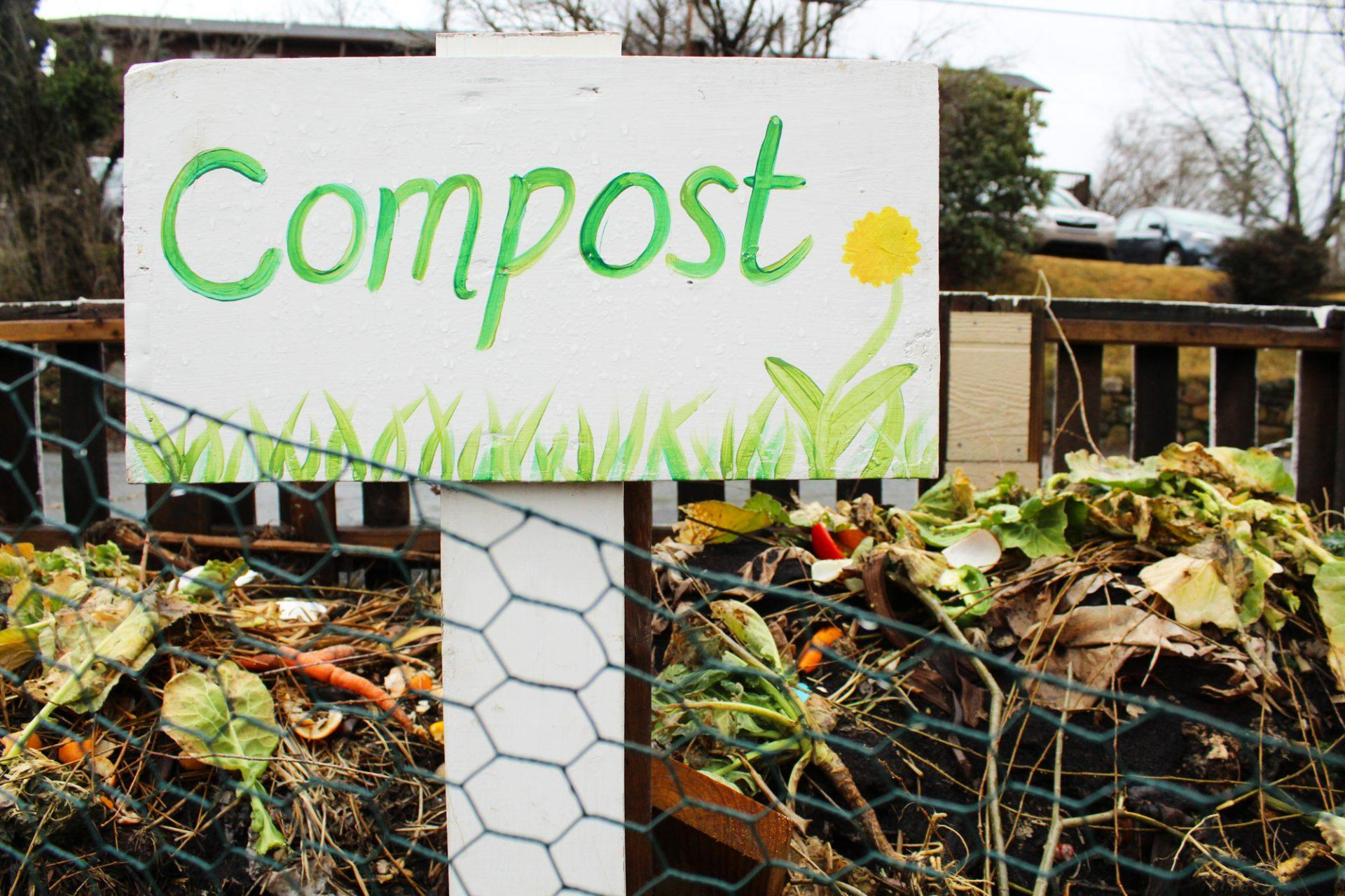 The compost pile at the Appalachian Roots Garden on Howard Street. Students can tend  to the garden most Fridays from 10 a.m. to 2 p.m.