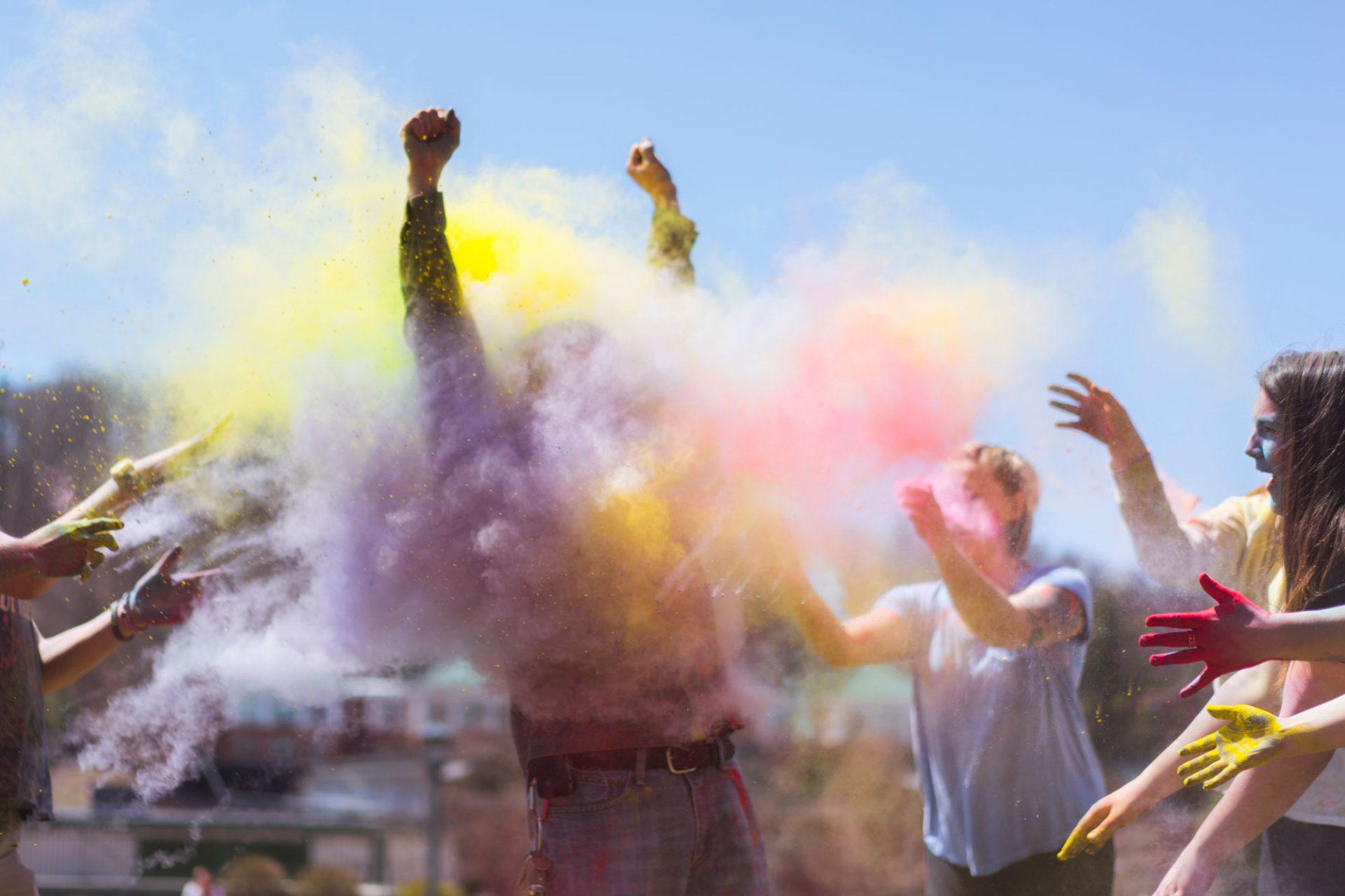 Holi celebrates the coming of spring