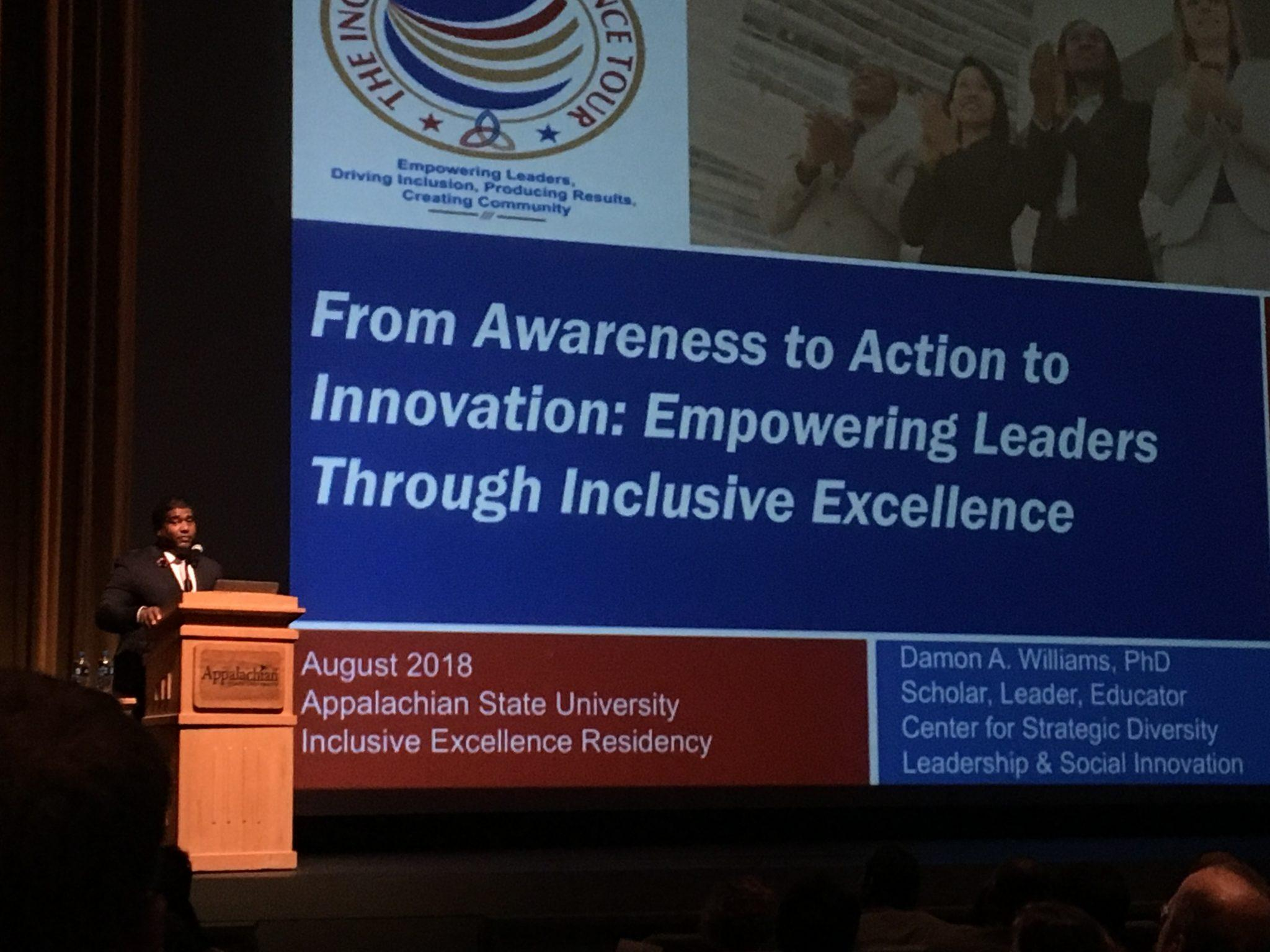 Damon A. Williams' Inclusive Excellence Tour comes to App State