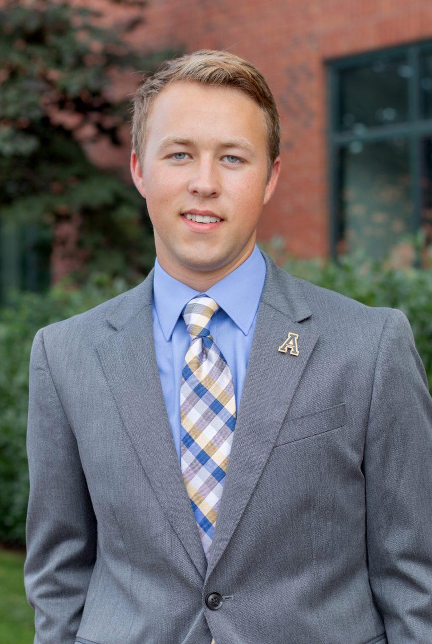Devin Mullins, a newly elected SGA senator representing the 2018 freshman class.