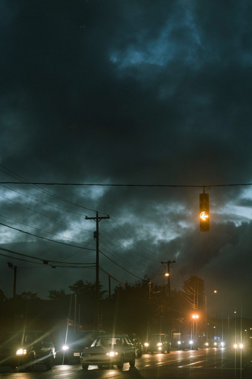A storm brews in the skies over Boone as Hurricane Florence approaches.