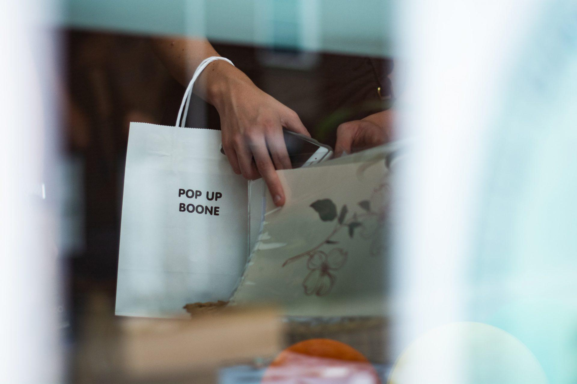 The populairty of Pop Up Boone stems from its supports of local artists as the variety of pieces that the sale offers.