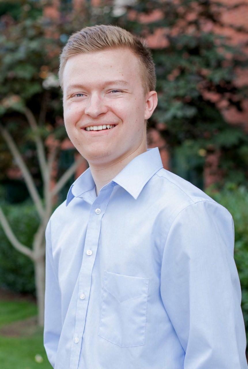 Tyler+Gacek%2C+recently+elected+to+serve+as+a+freshman+senator+to+SGA.+