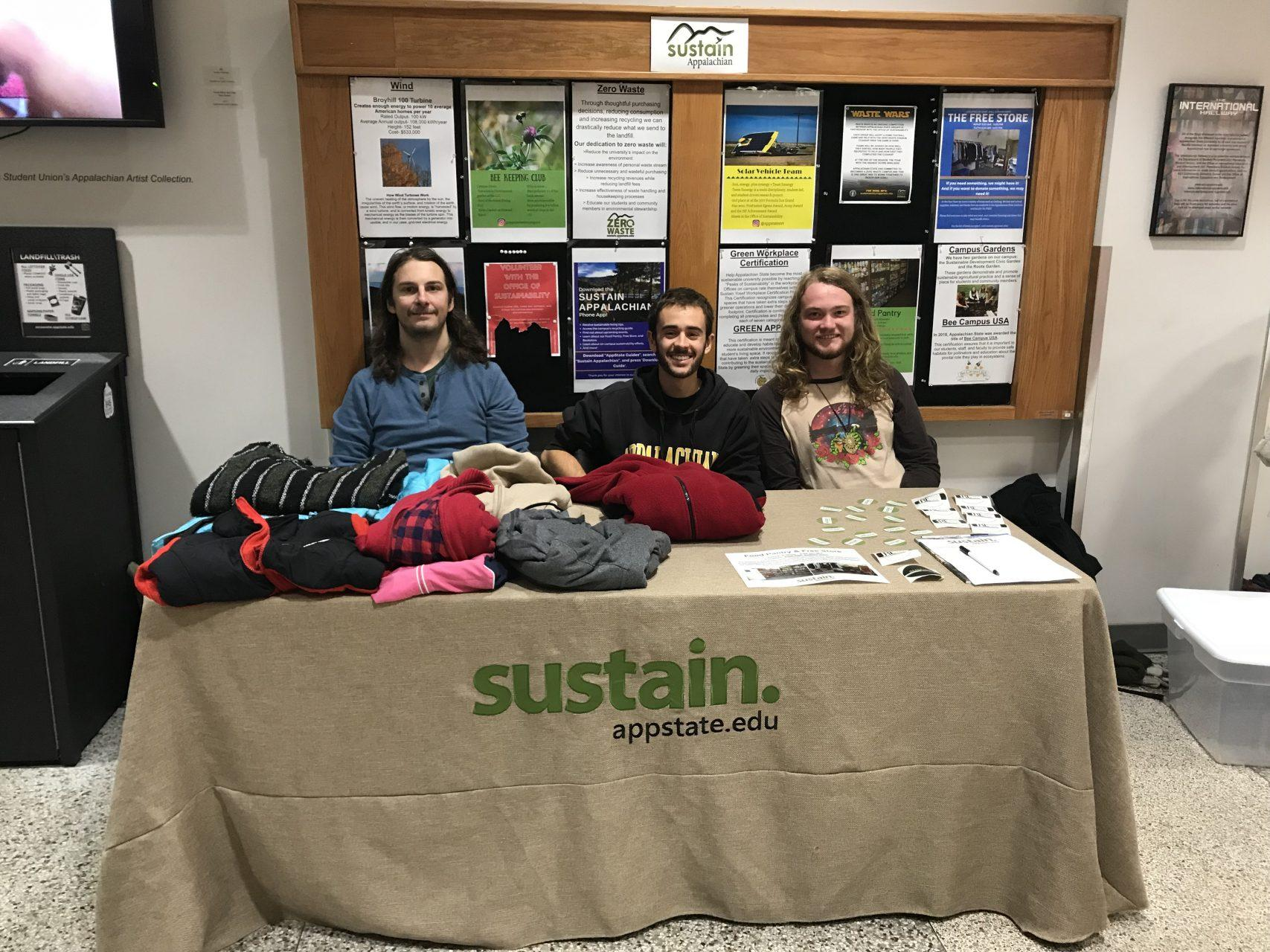 The Office of Sustainability adds winter clothing to Free Store