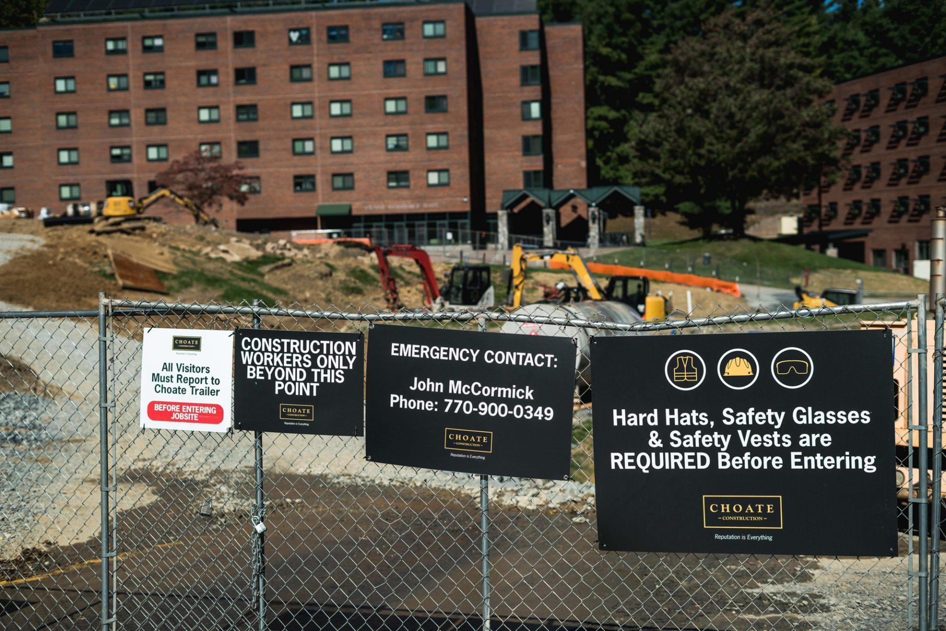 Winklers' construction affects Eggers Hall residents