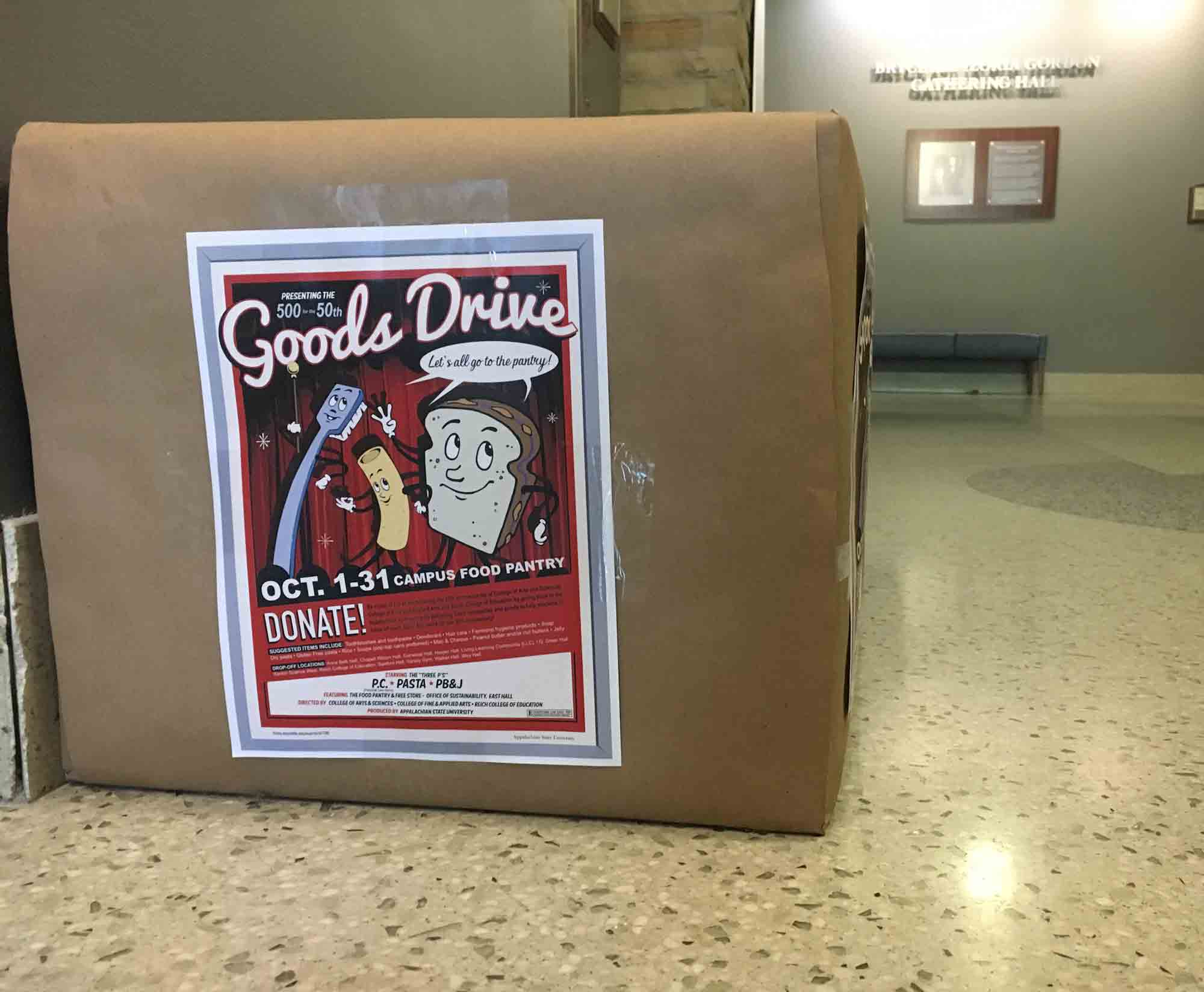 Three academic colleges celebrate 50th anniversary with goods drive