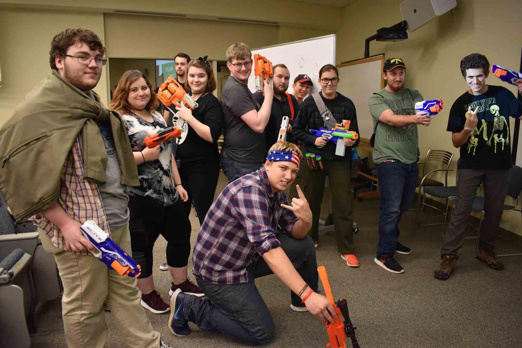 """Belk Library overrun by """"Zombies"""" in Halloween activity"""