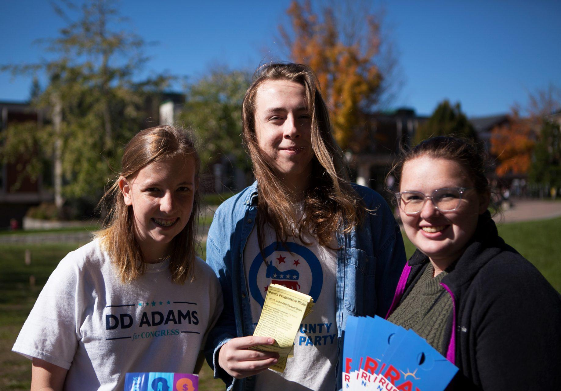 Interns get hands-on political experience by canvassing, empowering student voting