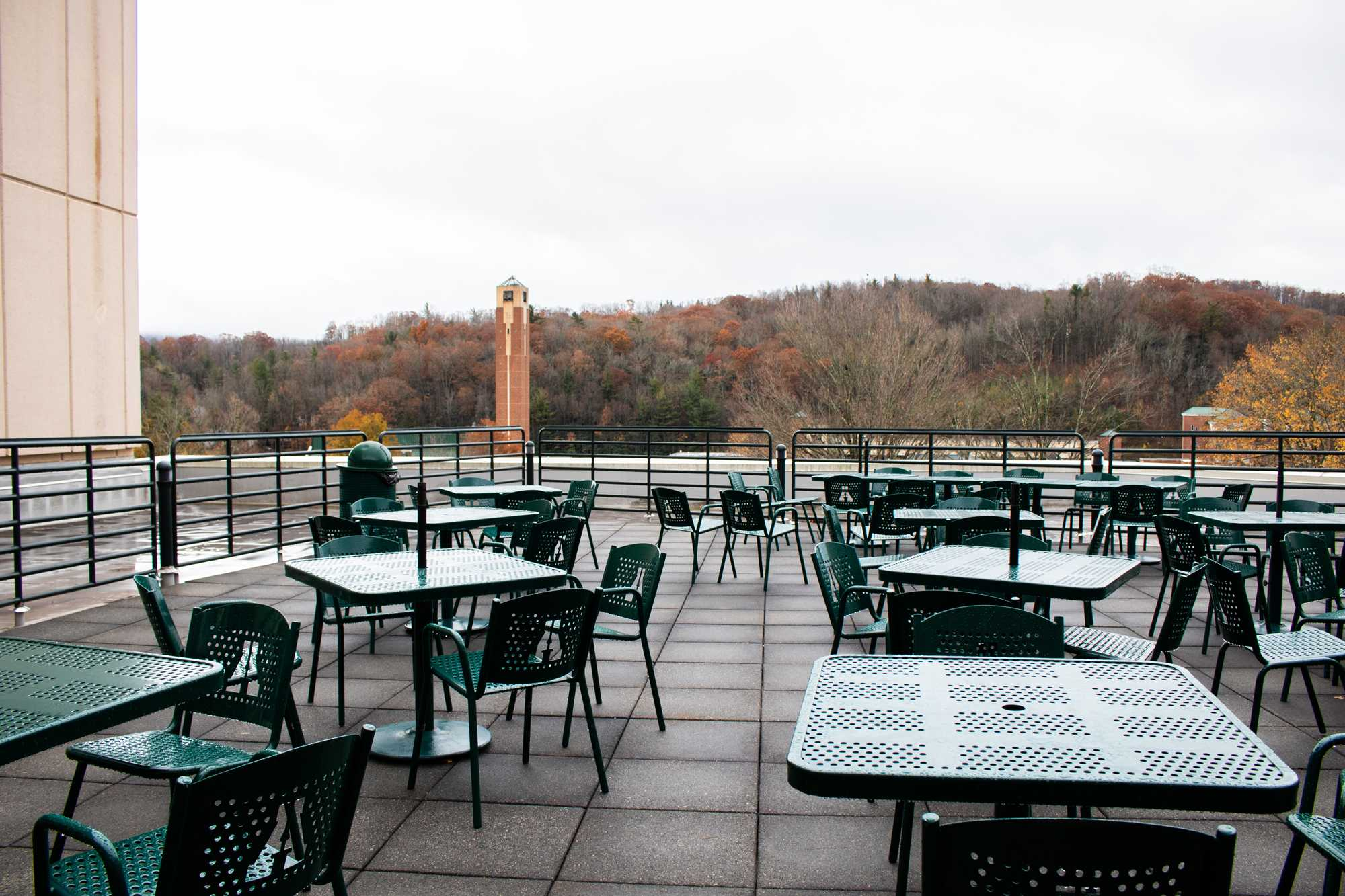 Patio in Plemmons Student Union redesigned by students