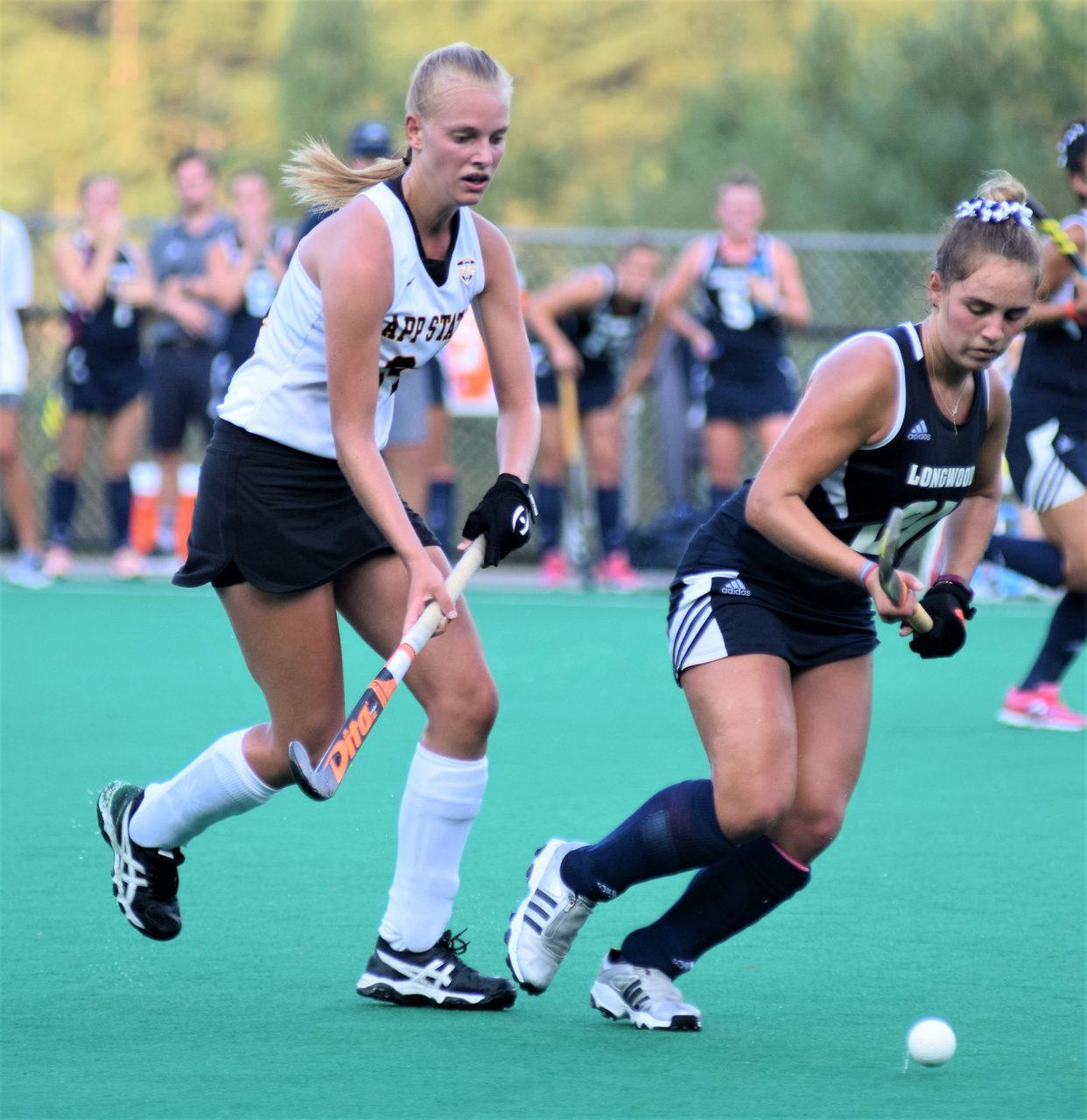 Mountaineers+field+hockey+player%2C+Veerle+Van+Heertum%2C+tries+to+stop+Longwood+from+getting+the+ball.++