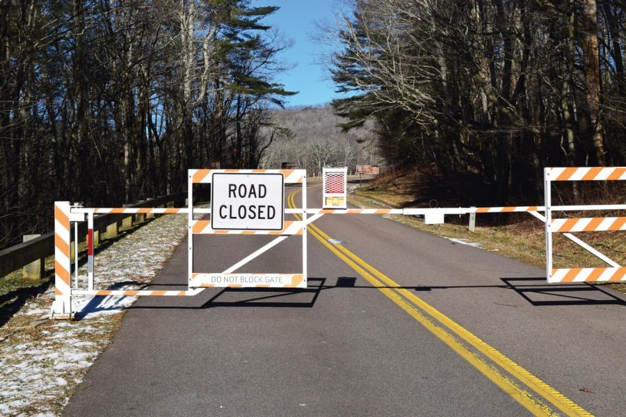 The southbound road of the Blue Ridge Parkway is closed at the Boone entrance. The parkway will not reopen until the end of the government shutdown.