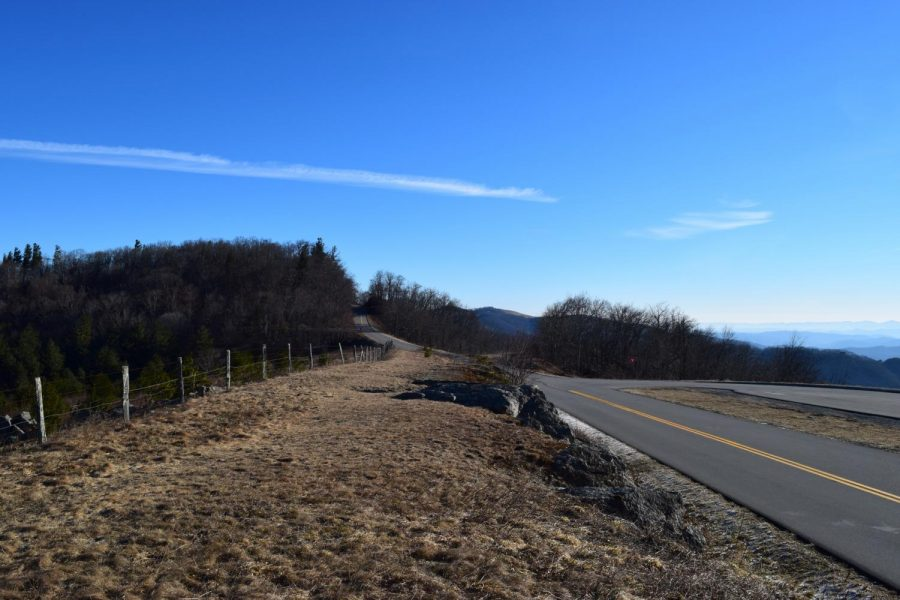The Blue Ridge Parkway is empty on Jan. 22, the 32nd day of the government shutdown. Freezing temperatures and bad road conditions left over from mid-December have contributed to road closings.