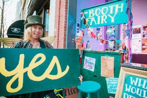 Traveling Thrift Store Shopping Party provides customers entertainment and secondhand clothes