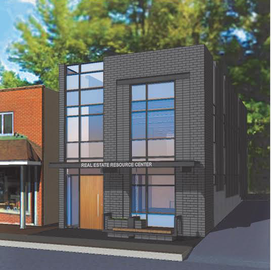 An illustration of the future Blowing Rock Investment Properties building on West King Street. The opening of the company's second location will provide students with real estate internship opportunities.