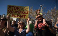 Rainbow Trail residents protest asphalt plant construction