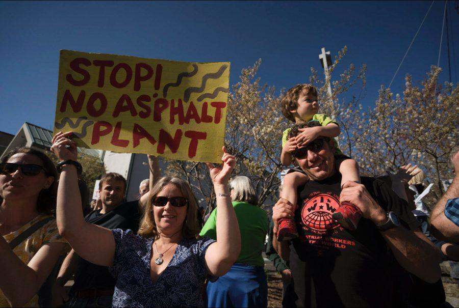 Families from around Boone came out to protest the potential construction of an asphalt plant in the Rainbow Trail neighborhood. The plant would be located in the vicinity of four elementary schools.