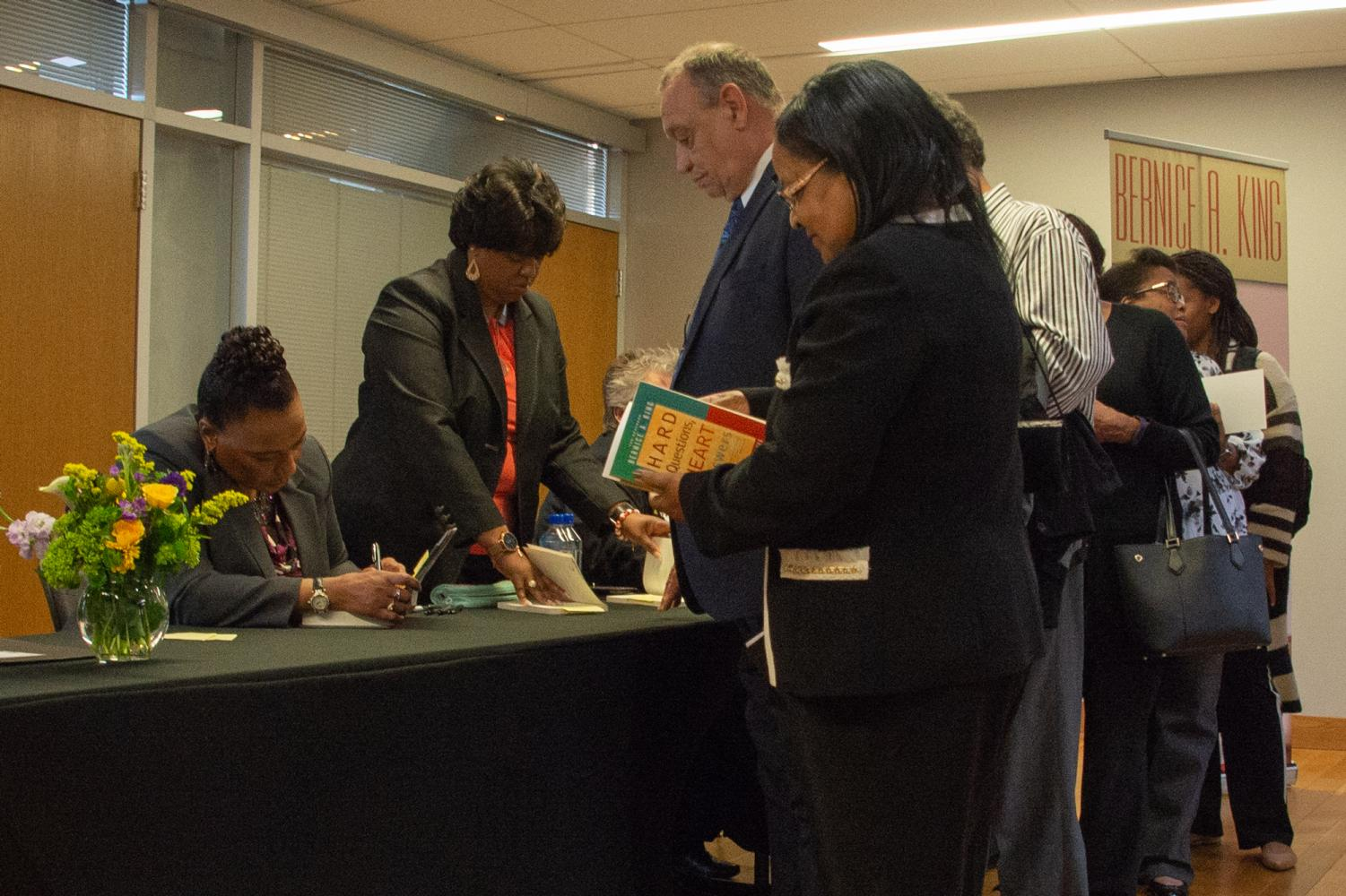 Bernice King made an appearance at App State's Diversity Celebration: World of Excellence on Thursday. King spoke at the event and even offered a book signing. Photo by Lynette Files