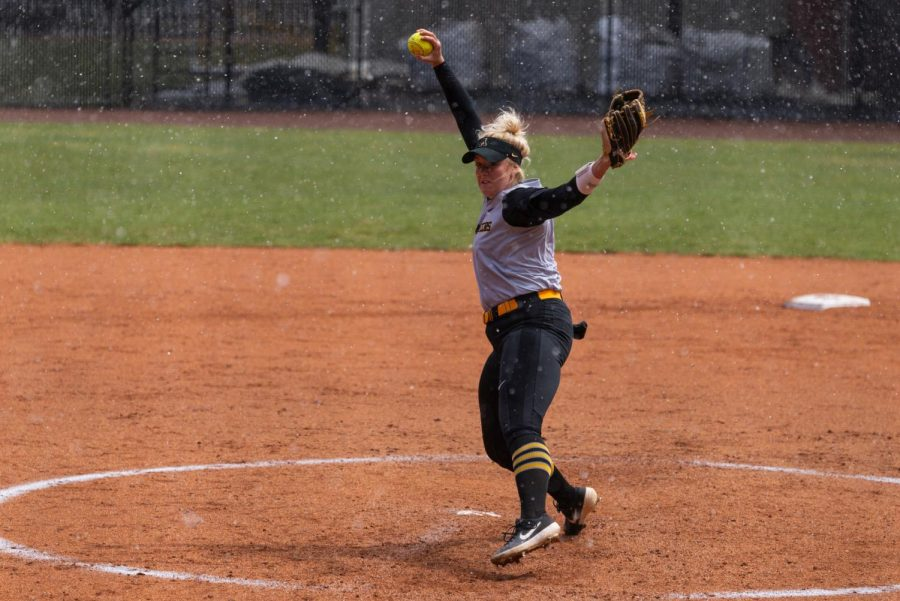 Junior pitcher Kenzie Longanecker is 13-1 so far on the season and has the lowest ERA on the team of all players with more than 8 appearances.