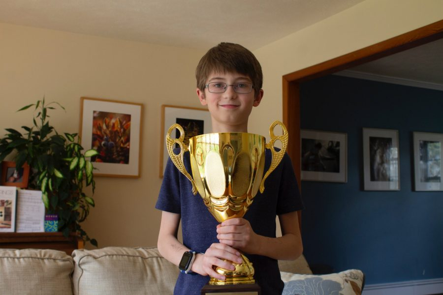 Sam Nystrom, a Hardin Park sixth grader, will travel to Washington DC in May to compete in the National Spelling Bee after winning the regional spelling bee.