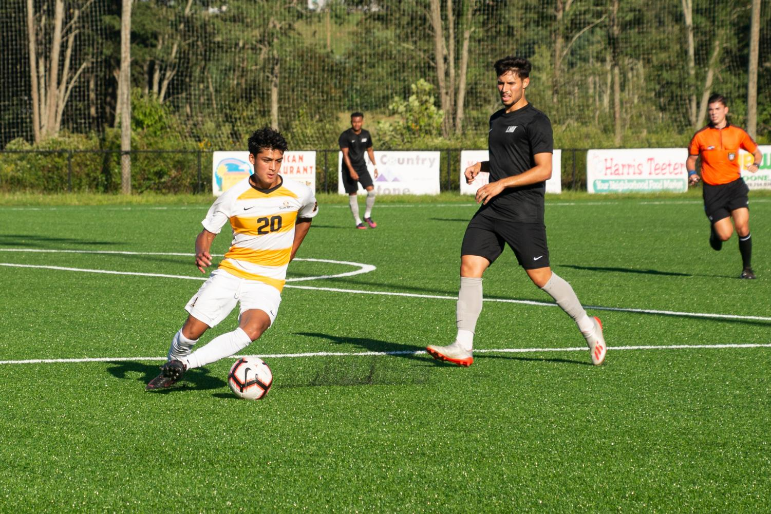 Sophomore midfielder Alex Hernandez in action in App State's opening scrimmage of the season on August 16. Hernandez scored three goals for the Mountaineers a season ago.