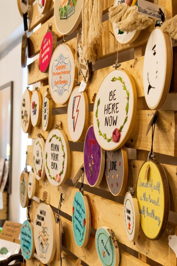 Decorative embroidery loops are among the most popular of goods sold at Pop Up Boone each month.