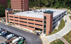 Appalachian's newest parking facility features 477 spaces and is now open for use. Photo By Marie Freeman.