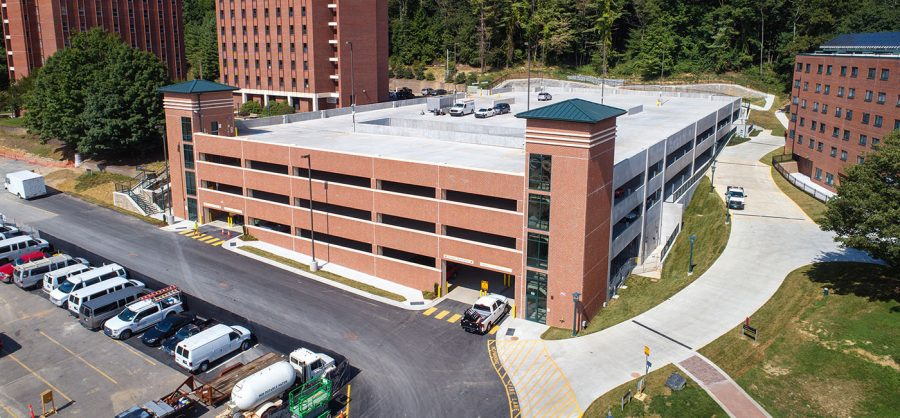 Appalachians newest parking facility features 477 spaces and is now open for use. Photo By Marie Freeman.