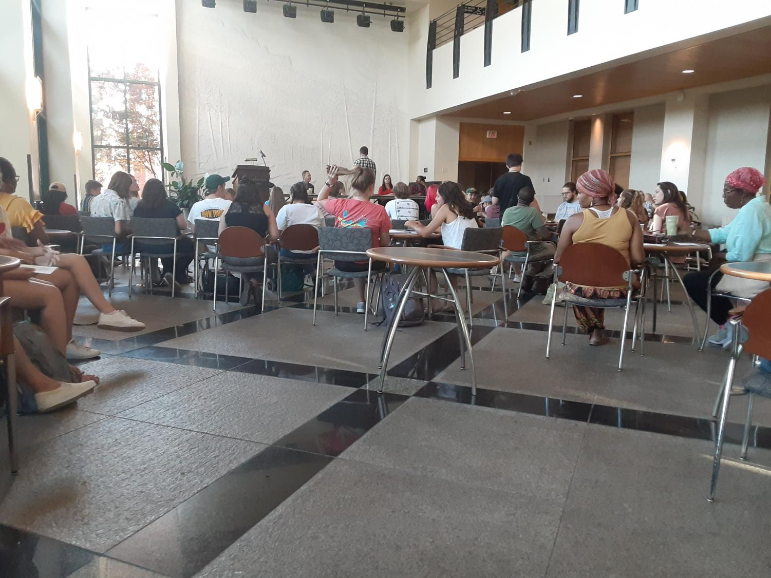 The student organization AppSpeaks hosted an event in the Plemmons Student Union Solarium on Sept. 4 called Appalachian Spoken Traditions. This was the second year the event on storytelling and spoken word was held.