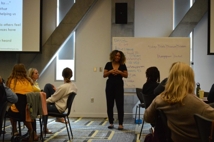 During the Inclusive Leadership Retreat, students, faculty, and staff gain skills in active listening and inclusive language over a period of three days.