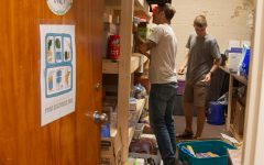 Volunteers stock the pantry at the Food Resource Hub in 2019. App State has spaces across campus where students and faculty can get a variety of items including food for free to eliminate food insecurity, a problem that has been exacerbated by the pandemic.